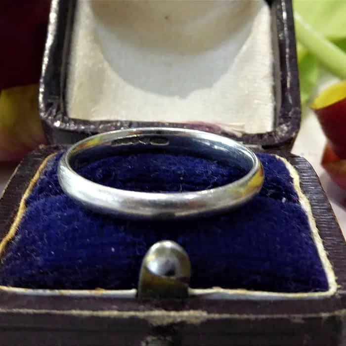Antique Platinum Wedding Ring, 1930s, Boodles