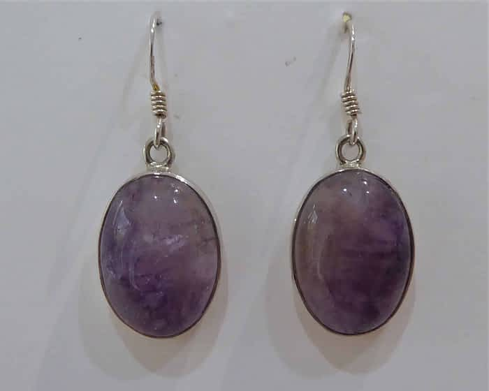 silver and blue john drop earrings