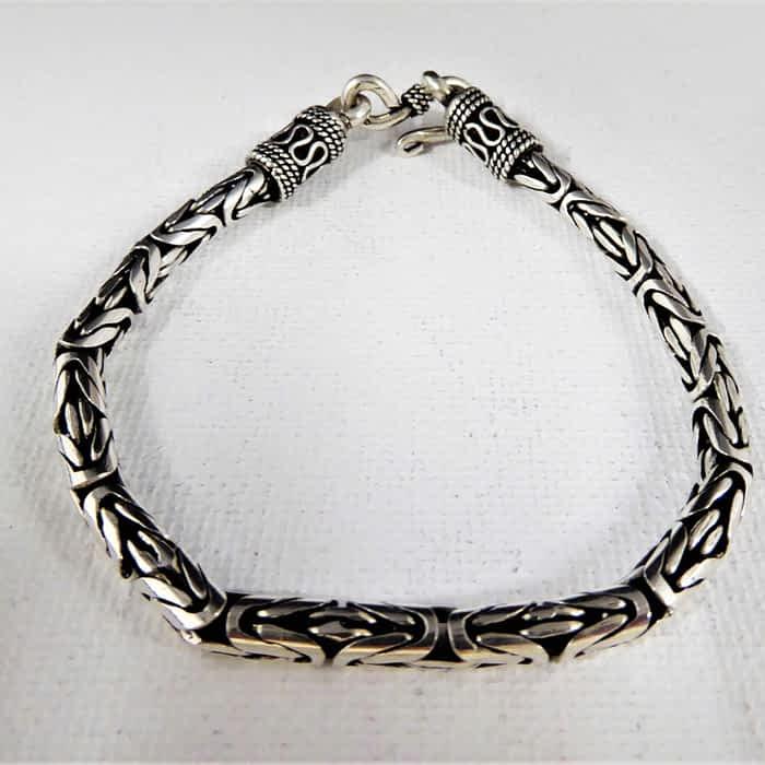 4mm silver bracelet 7.5 inch