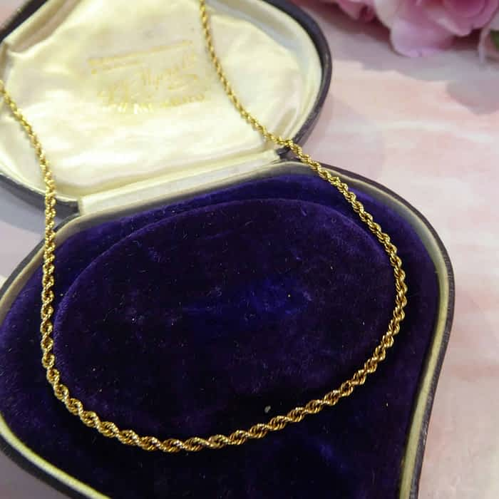 Victorian 15ct gold rope chain