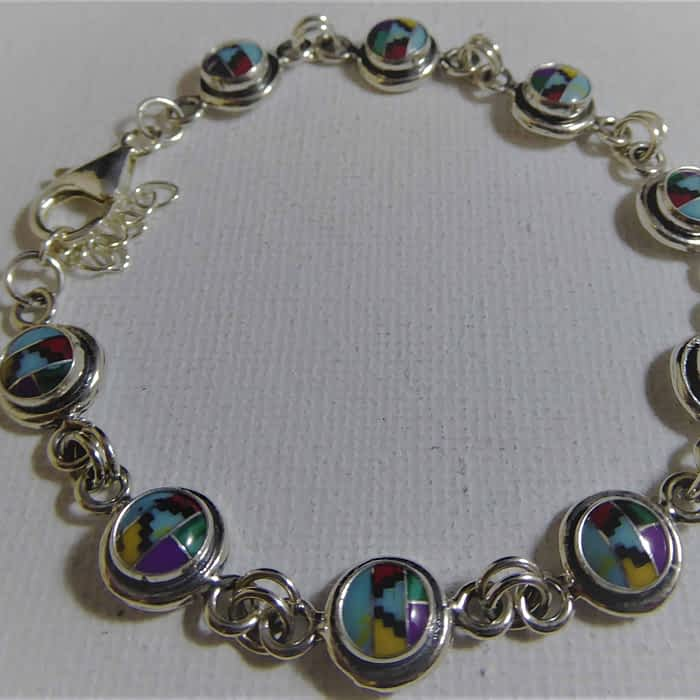 silver aztec bracelet