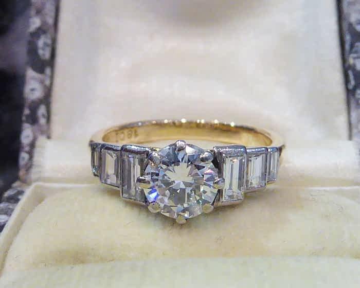 Antique Diamond Solitaire Ring, 1.25ct, 18ct Gold
