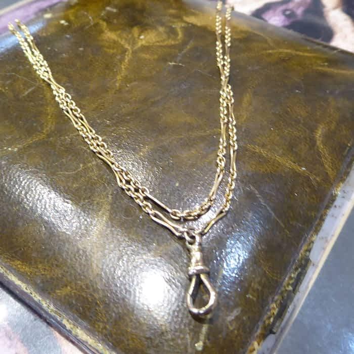 Victorian Gold Muff Chain. 9ct Gold