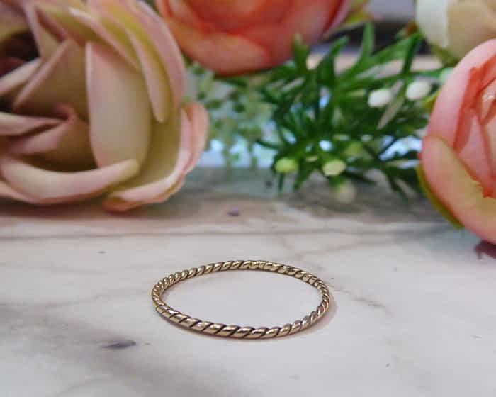 Vintage 9ct Gold Band, Stacking Ring