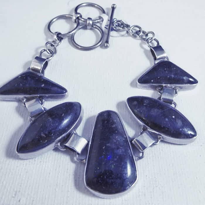 silver and boulder opal bracelet