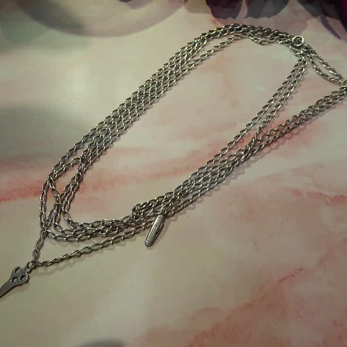 Edwardian Silver Extra Long Chain