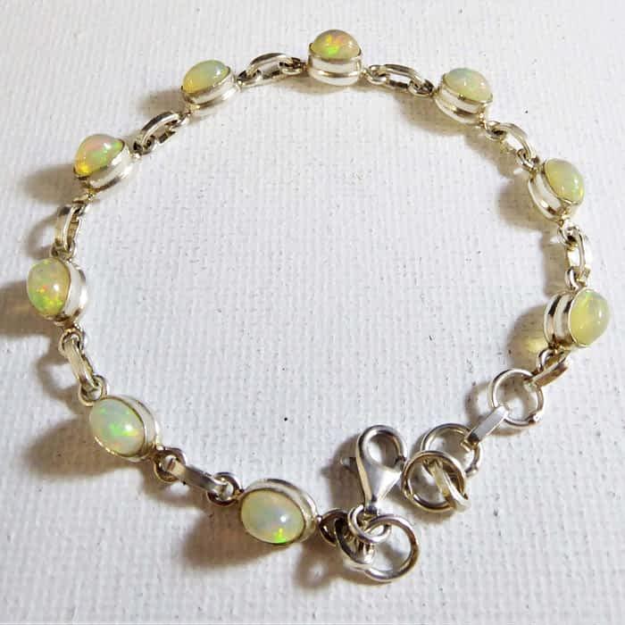 silver and  ethiopian  bracelet