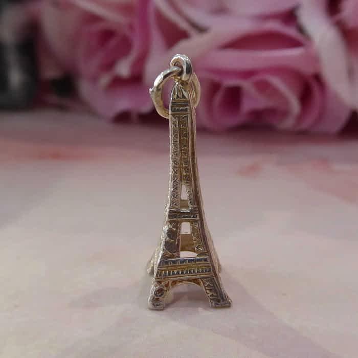 Vintage silver Eiffel Tower charm