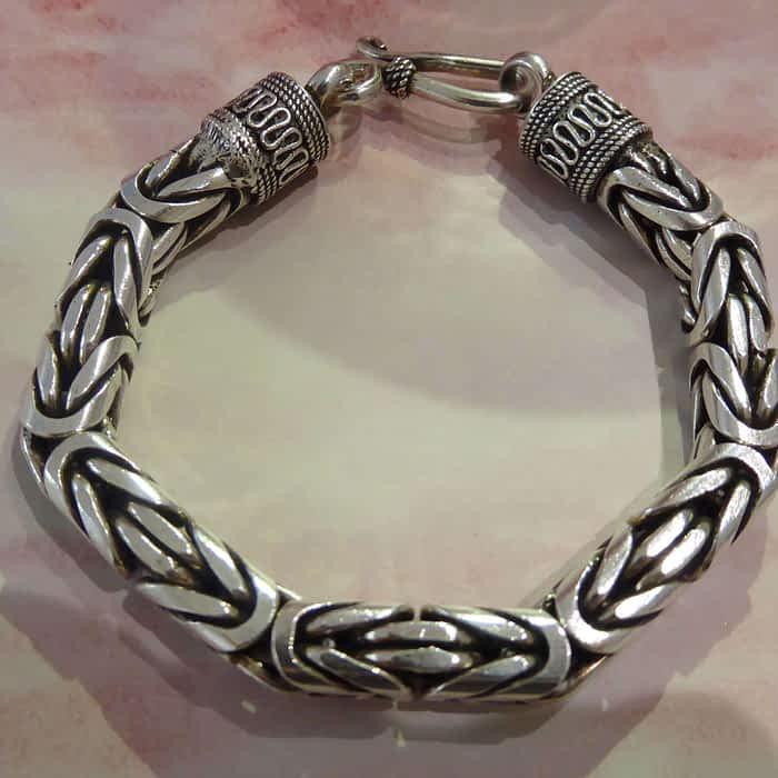 Heavy 8ml silver byzantine bracelet