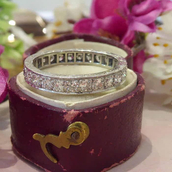 Antique Diamond Ring, Eternity Ring, Circa 1930s, 18ct White Gold