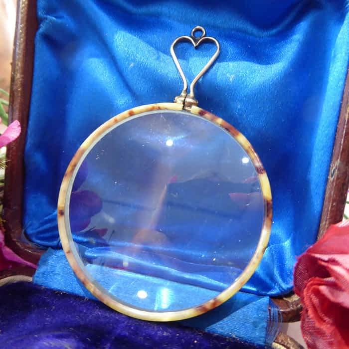 Antique Tortoiseshell Magnifying Glass, Victorian